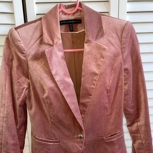 White House Black Market velvet pink blazer